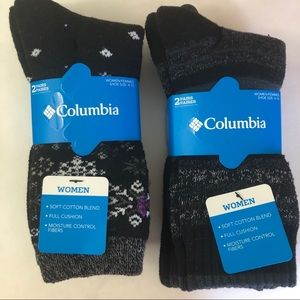 Women's Columbia Crew Socks 4 Pairs Size 4-10 NWT